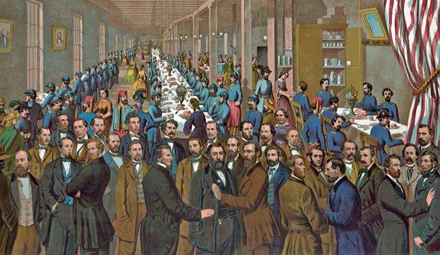 Cooper Union Volunteer Refreshment Saloon in Philadelphia, PA-Interior View