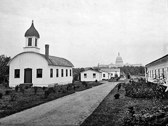 The Old National Mall with the completed Capital Blgd. Dome in the back