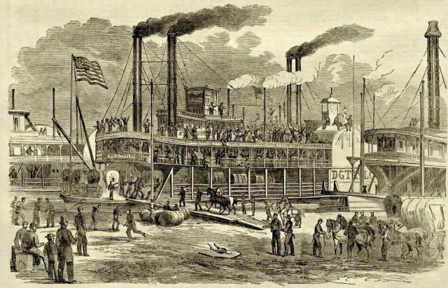 Embarkation of troops at St. Louis, Missouri