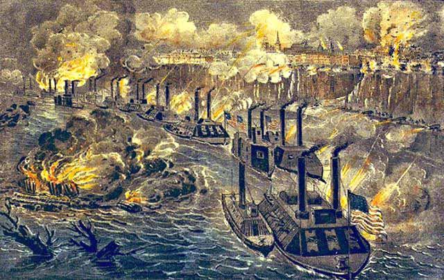 Vicksburg Battles Map