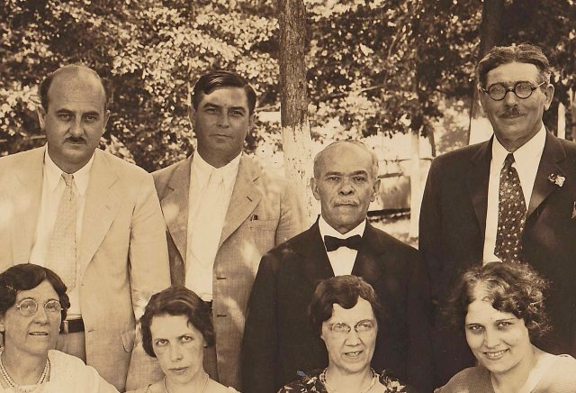 Gerald Winrod (far left) a featured speaker at the Eliada Camp Meeting (Photo ca. 1930's)