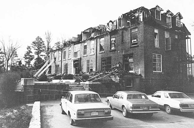 The remains of the Conference Inn after the fire