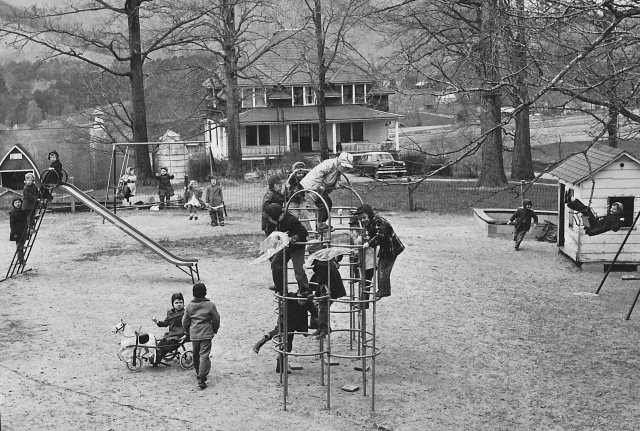 Playing in front of the Older Boys Dormitory at Eliada (Photo ca. 1961)