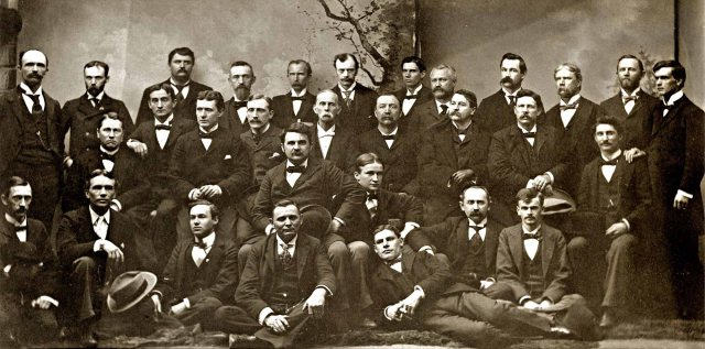 Asheville Bar Association ca. 1898. James G. Merrimon is standing 2nd from left.