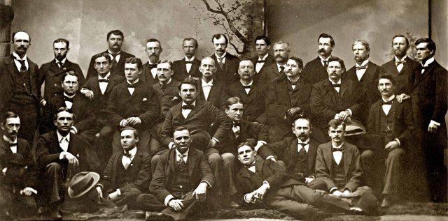 Asheville Bar Association ca. 1898. James G. Merrimon is standing 2nd from left.