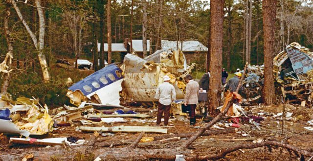 The Southern 242 crash site in 1977