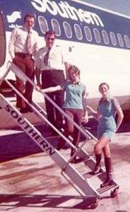 Southern Airways Flight Crew (Photo ca. 1974)