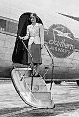 Southern Airways Flight Attendant ca. 1950's