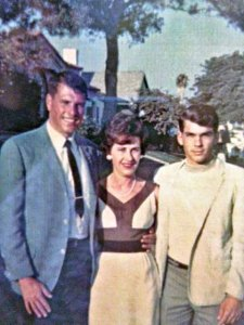 Keele with his mother Betty and younger brother Ken