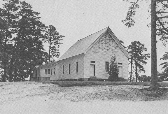 New Hope First Baptist Church was struck by lightening and destroyed by fire on August 2, 1958