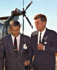 Werner von Braun and JFK at Redstone in 1963