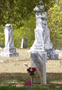 A Confederate soldier's gravestone in the New Hope Church cemetery
