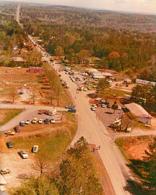 Highway 92 Spur in New Hope, GA–the forced landing site of Southern Airways Flight 242.