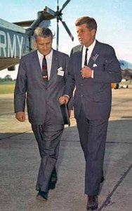 Werner von Braun and JFK at Redstone Arsenal in 1963