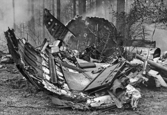 The remains of Southern Airways Flight 242 (Photo courtesy of Joe Parker)