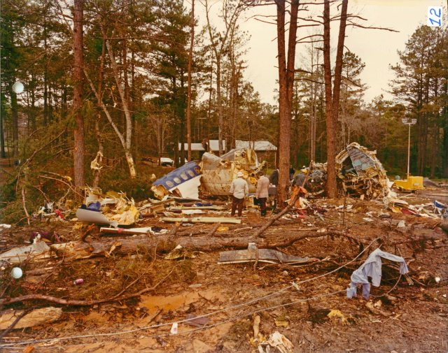 The crash site in New Hope, GA