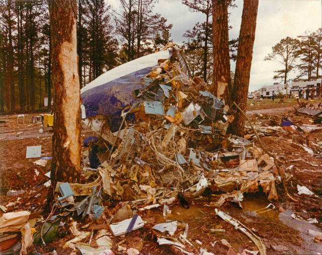 The remains of Southern Airways Flight 242