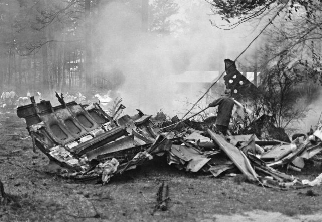 The burned remains of Southern Airways Flight 242