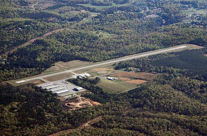 The 4,000 ft. runway at Cornelius Moore Airport, Cedartown, GA