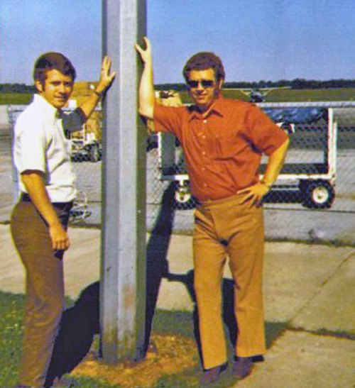 Earl and Jimmy at the Muscle Shoals Airport (Photo ca. 1975)