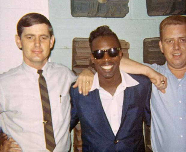 Rick Hall, Wilson Pickett, and Jimmy Johnson at Fame Studios in June of 1966