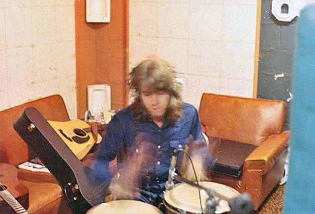 Mick Taylor on congas